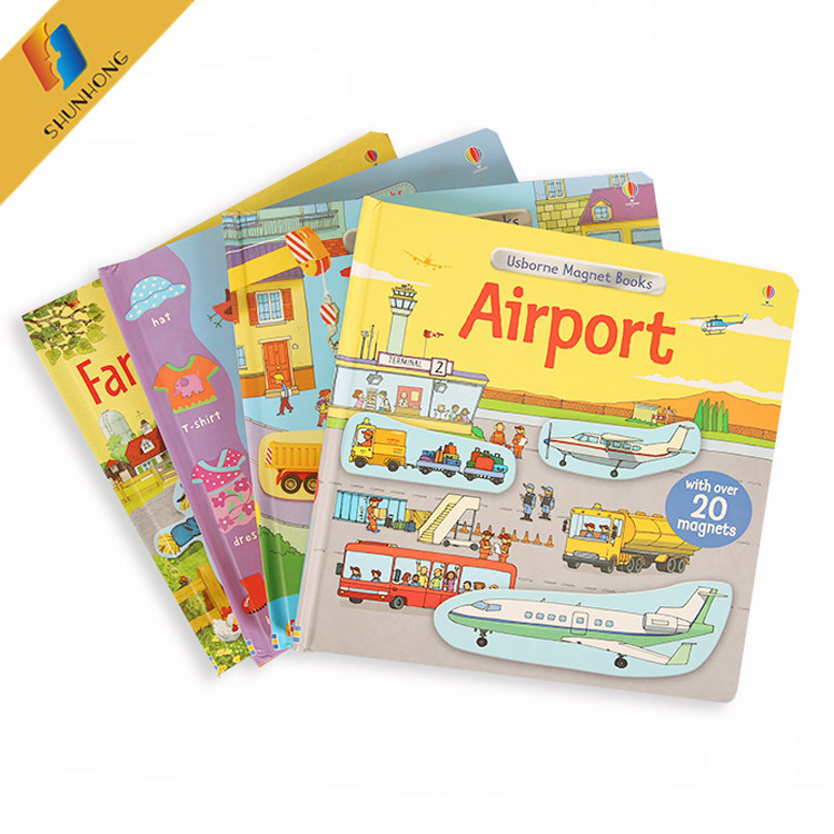Custom wholesale children board book kids story books printing factory
