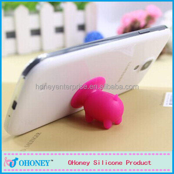 Cute gifts for children silicone angel wing phone holder