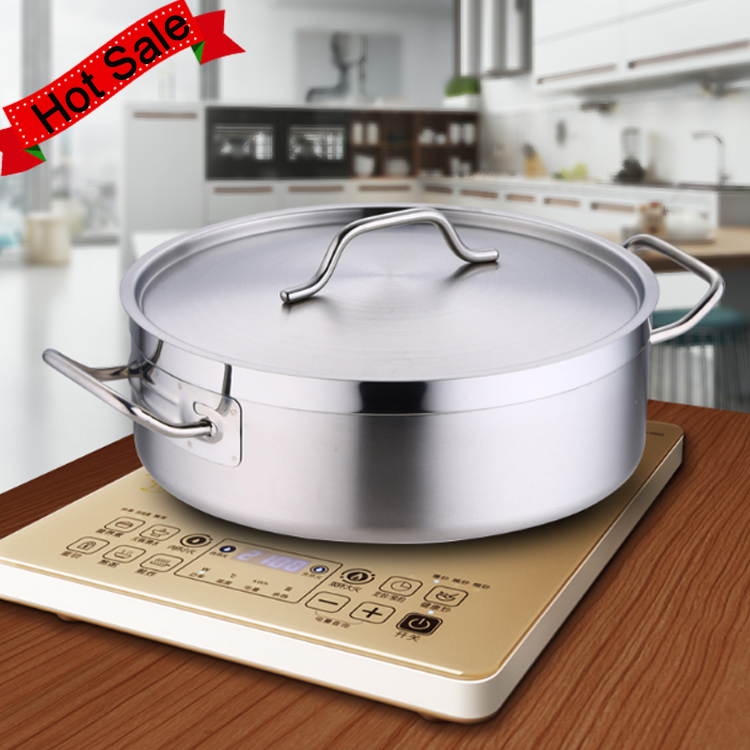 Catering Cooking Stew Pan Saucepan Stainless Steel Stock Soup Pot