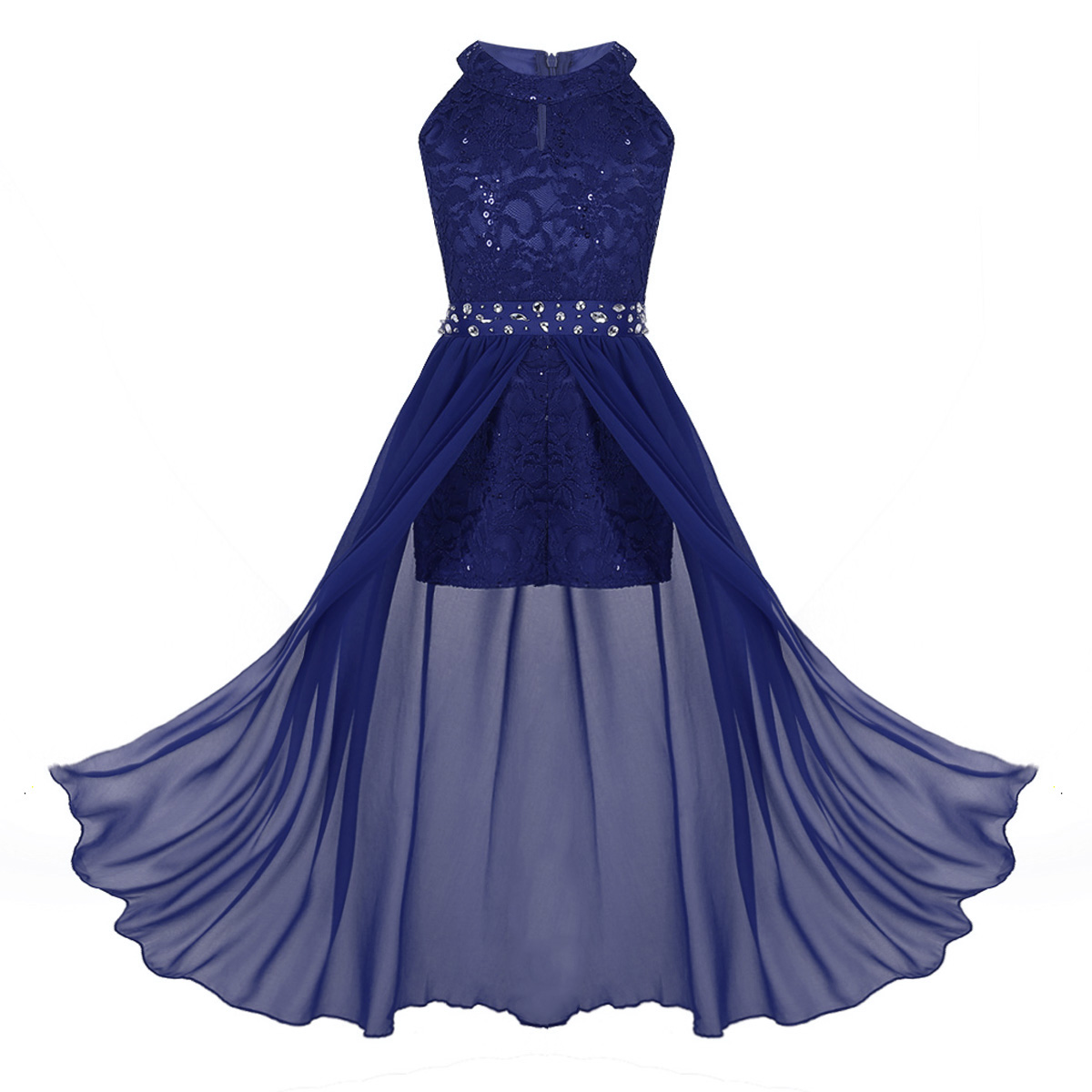Kids Girls Modern Lyrical Dance Dress Ballroom Latin Dance Wear Dancing Costume