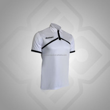 White/Black OEM Service three button closing short sleeve men's dry fit polo shirt
