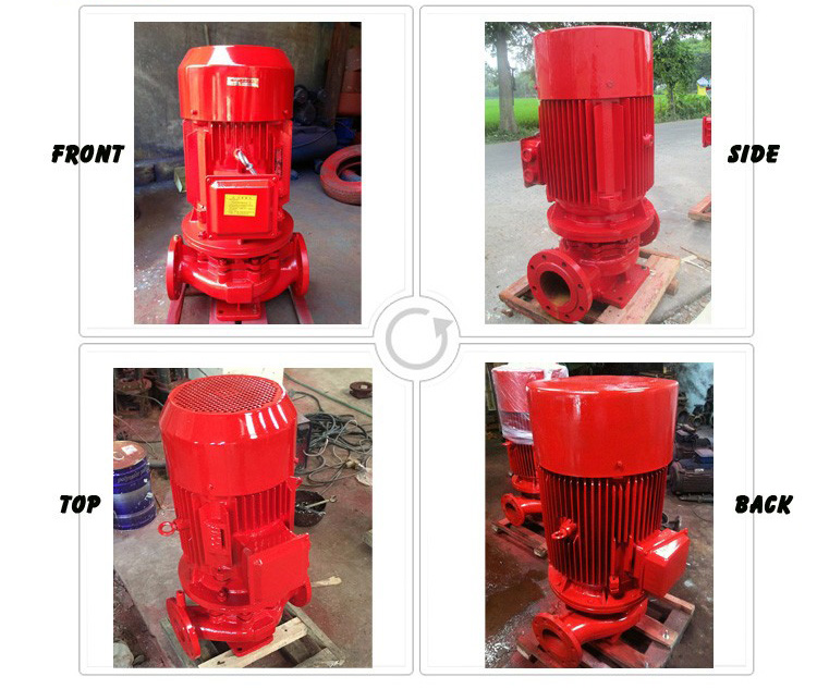 electric portable fire fighting jockey water pump with control panels made in china