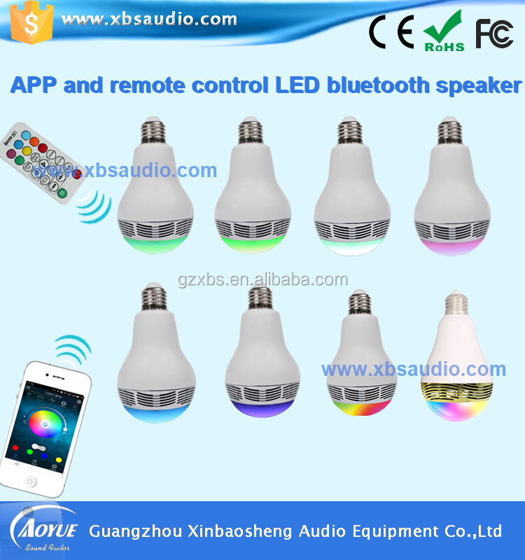 Hot Selling 10 Watt Led Bulb Speaker Bluetooth With App Control ...