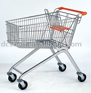 Dachang Manufacturer 150 Liter Supermarket Shopping Trolley Chrome or Glavanized