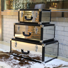 Hot Selling Rainproof Stainless Aluminum Steel Suitcase For Decoration