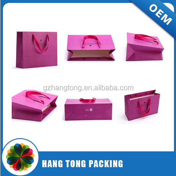 china supplier paper bag design template