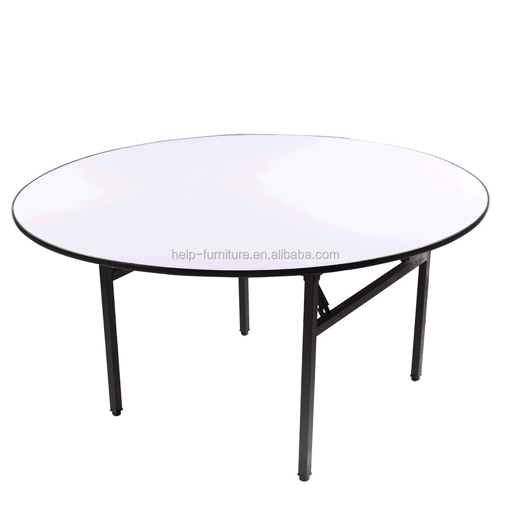 - Metal And Mdf White Round Folding Dining Table - Buy Round