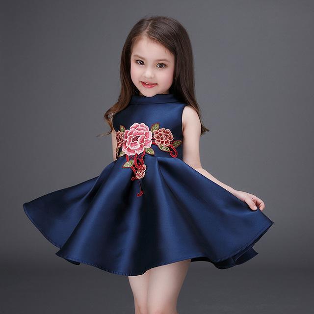 c7e04fdac27 B4242 2017 New Summer Style Flower Girl Wedding Dresses Evening Party  Dresses For Teenager Girl Children