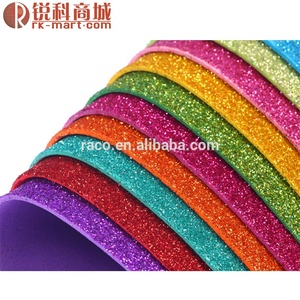 Raco Nice items glitter eva sheets for diy/starry rubber A4/colorful eva