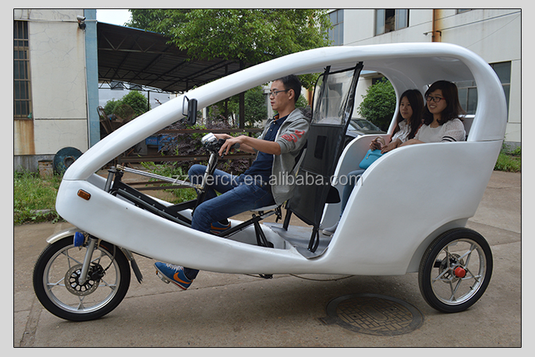 6 Speed Pedal Assist Bicycle Battery Auto Electric Rickshaw Electric Tricycle Adults 2 Passenger