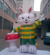 Commercial cute rabbit outdoor inflatable character cartoon for advertising/inflatable cartoon character for kids