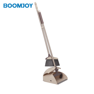 BOOMJOY low cost Y2 Plastic smart design windproof best amazon choice 2018 long handle garden cleaning Broom And Dustpan