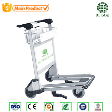 Luggage trolley heavy duty platform carry cart for airport