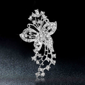 Fashionable European and American hot style indian wedding brooch butterfly brooch wholesale