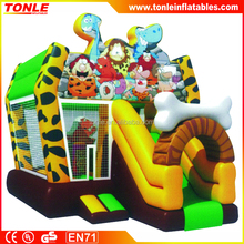 Flintstone Inflatable bouncer with slide