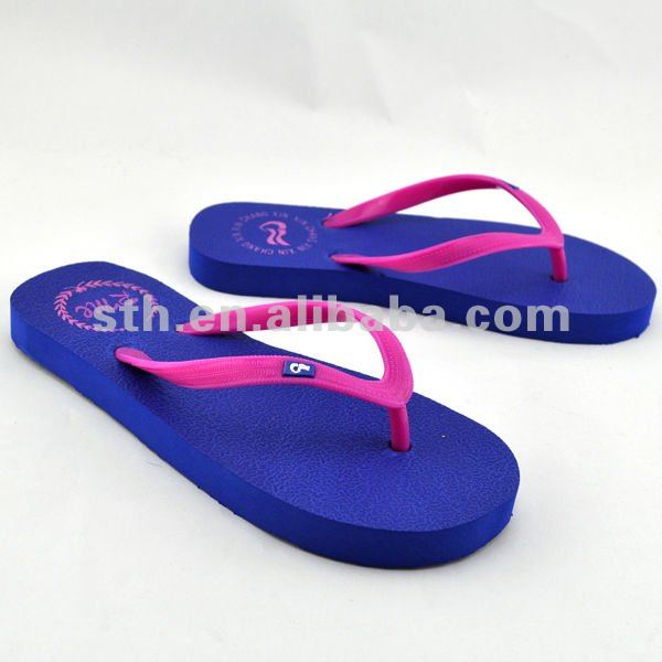 Fashion PVC injection Colorful Leisure Slim Flip Flop