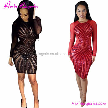 Off Big Discount Plus Size Black Lace Transparent Long Sleeves Dress ... 96c12bfea