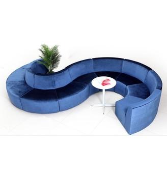 Modern Design S Shaped Salon Furniture Waiting Sofa