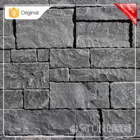 Low Price Bulk Buy Black Limestone Wall Cladding