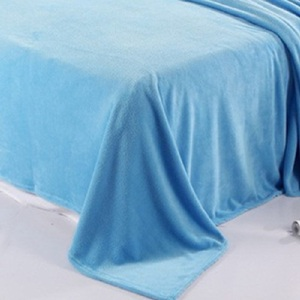flocked fabric home textile plain 100 percent polyester knitted blanket crushed velvet fabric