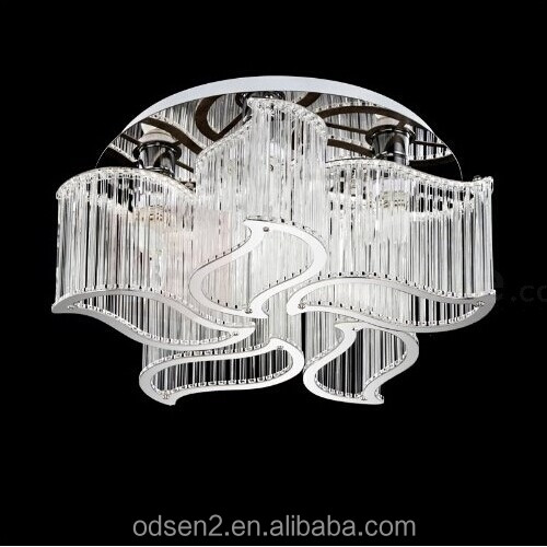 Unique ceiling hanging light crystal lamp fixtures