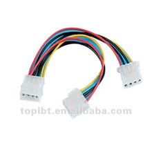 RGB Big 4Pin Flat Wire Sata Power Cable for South America