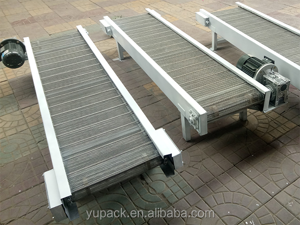 Grid belt conveyor line