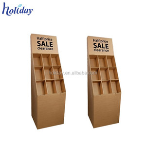 brown color background strong corrugated cardboard goods display cabinets