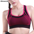 HimanJie Multicolors Women Vest Sports Bra fitness Professional quick drying breathable sports bra woman