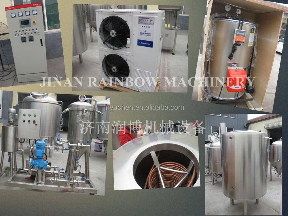 Jinan Rainbow Machinery 1000L beer brewing equipment/beer machine/turnkey beer brewery system