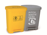 indoor hospital medical house plastic dustbin public street color coded garbage dustbin