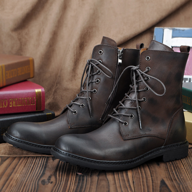 2015 British Casual Men Retro Long Boots For Outdoor