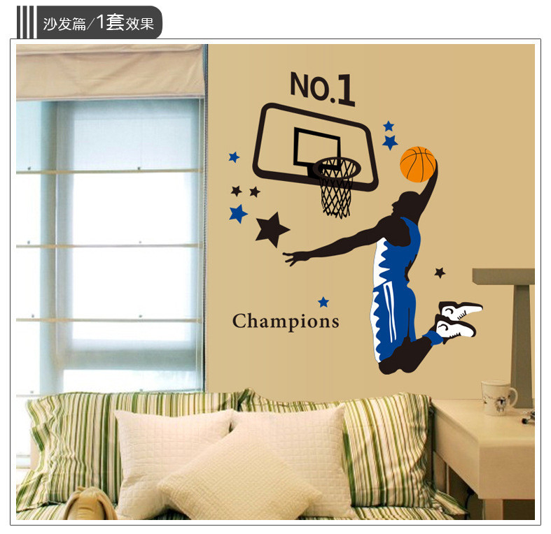 Wholesale Sporting Children Room Decoration Removable Pvc Wall - Sporting wall decals