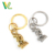 Best Selling Hot sales Pewter Metalen Nikkel Luxe Lucky Pixie Split Ring Accessoire Aangepaste Metalen Sleutelhanger