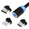 Schwarz-android + usb c + 8 pin-1M