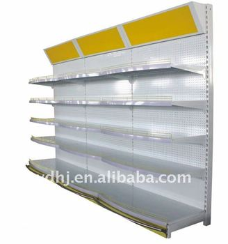 Newly Design Shop Single Side Wall Shelving Unit For