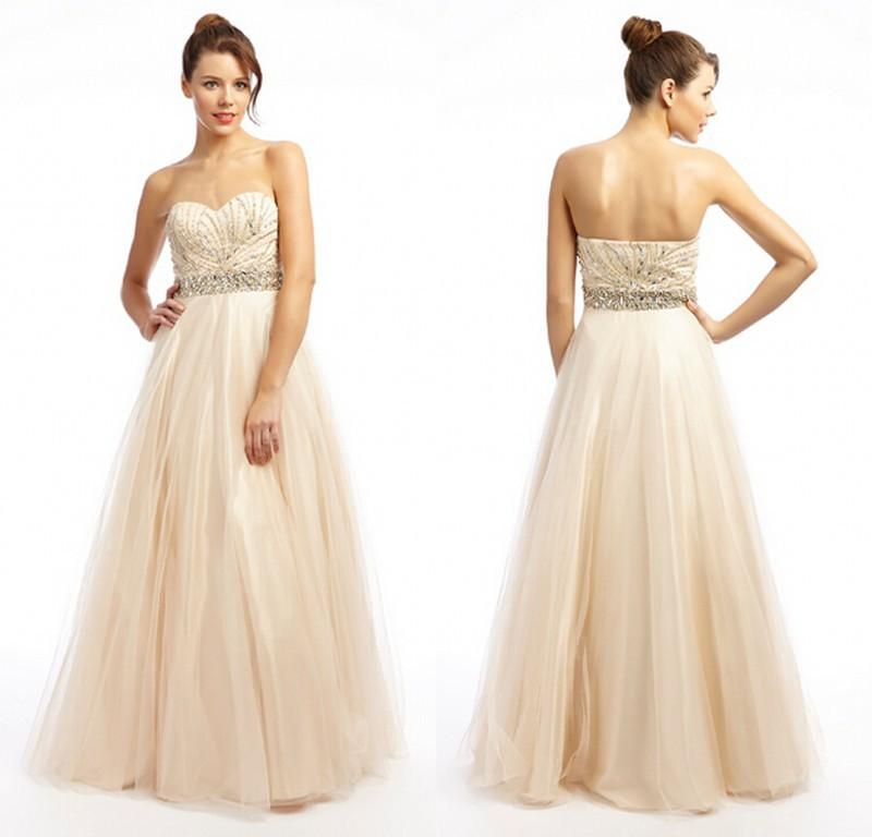 29b2a4d967 Custom Made 2015 Long Prom Dresses Sweetheart Beading Bodice Elegant Prom  Party Dress