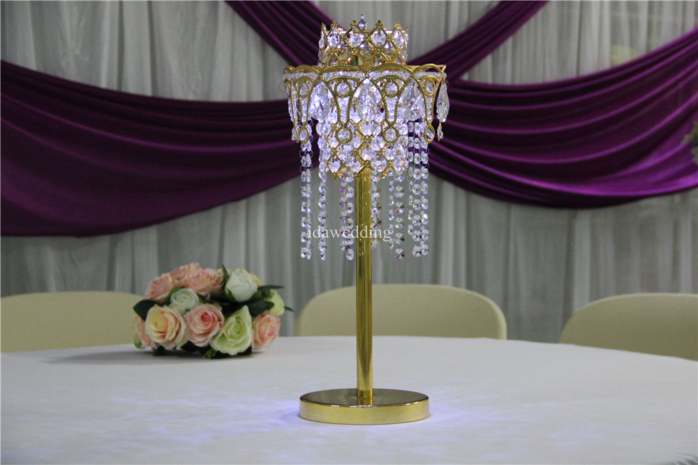 IDA Crystal Hanging Wedding Centerpiece/acrylic lighted centerpieces for weddings tables