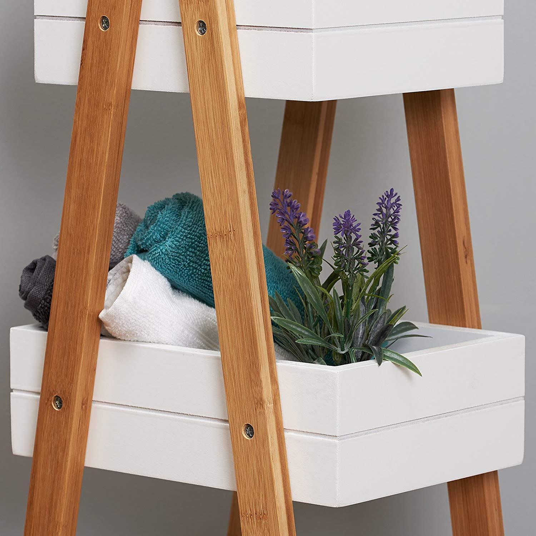Bamboo 3 Tier Bathroom Storage Shelf Unit - Buy Wooden ...