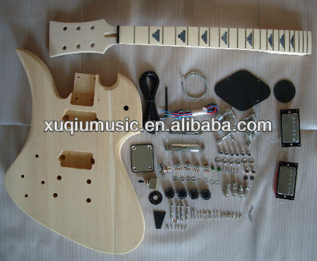 Unfinished Diy Lefty Electric Guitar Kits/Left Hand Guitar body