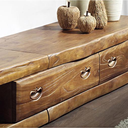 acheter cor e authentique vieil orme long meuble tv en bois massif meubles. Black Bedroom Furniture Sets. Home Design Ideas
