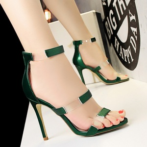 2018 hot sale Patent leather 10cm women high heel shoes