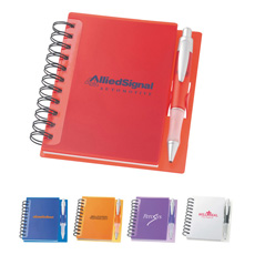 Promotional business gift compact A5 size 70 pages cardboard cover sided elastic strap simple ball pen paper lined exercise book