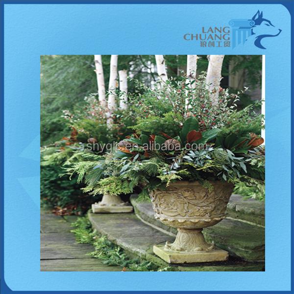 Eco Friendly Colorful Surface Treatment Victoria Style GFRC Cement Garden Pot