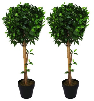 rubber fake ficus tree branches artificial ficus poinsettia plant