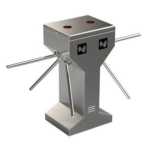 Dual side lane tripod turnstile two line 304 stainless steel RFID tripod turnstile for access control system