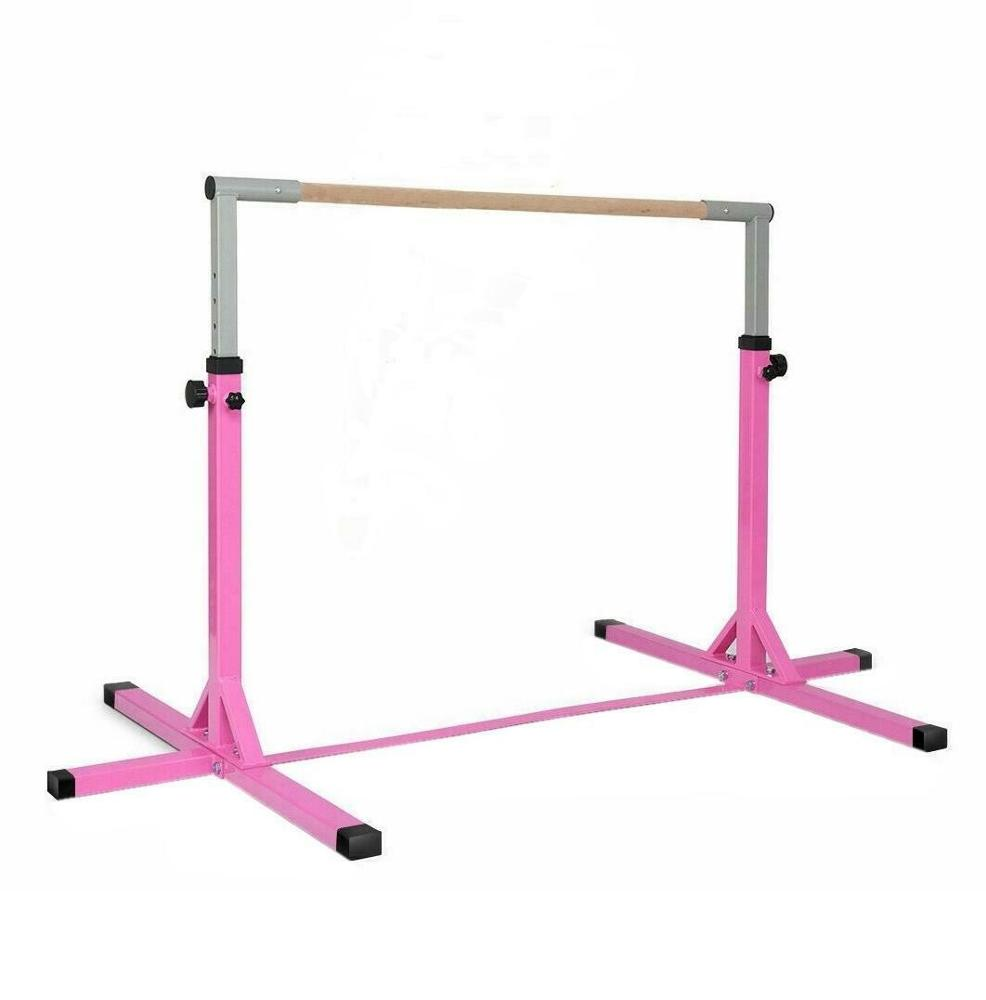 Gymnastics Training Bar Kids Adjustable Horizontal Kip Fitness Gym Equipment