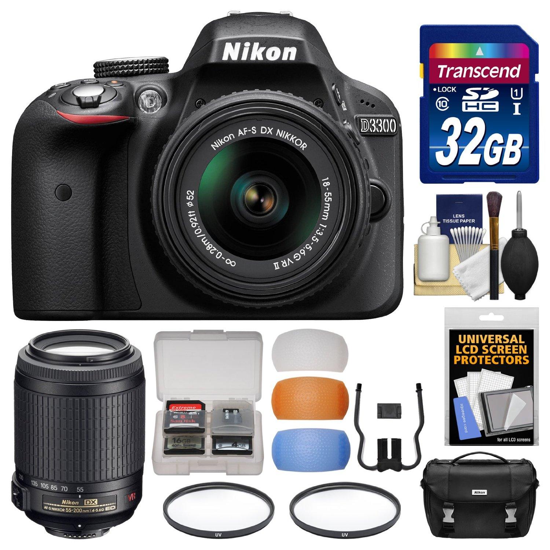 Buy Nikon D3300 Digital Slr Camera With 18 55mm Nikkor Vr Ii Lens Kit G Black 55
