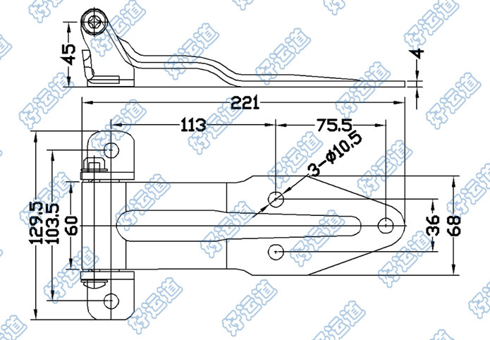 01132 Truck Body Parts And Fittings Double Sided Trailer