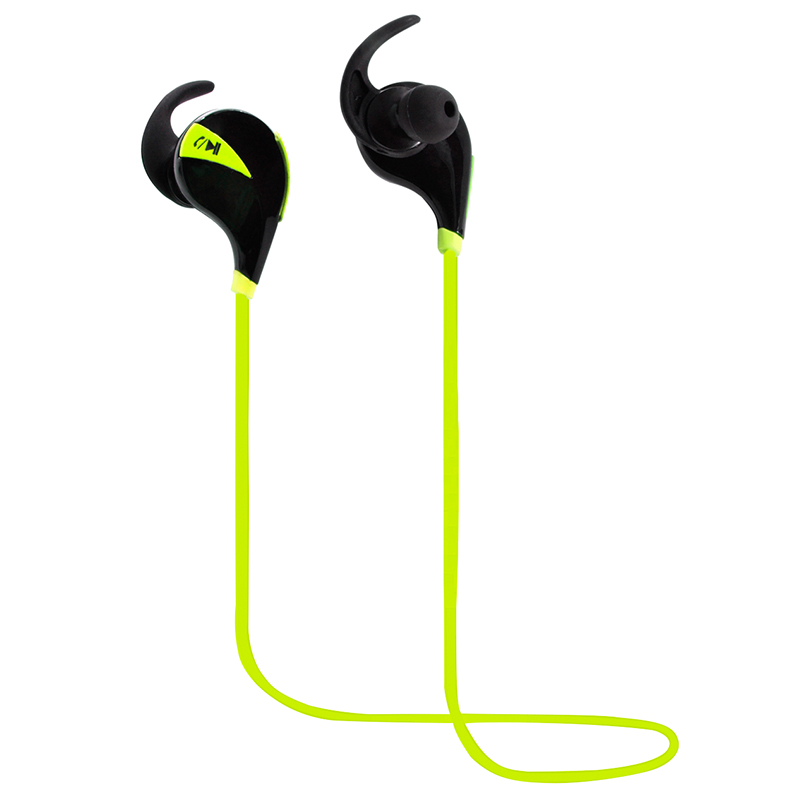 in ear sport style headset wireless with rubberized coating